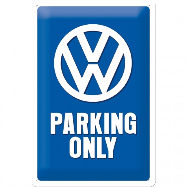 Blechschild VW Parking Only